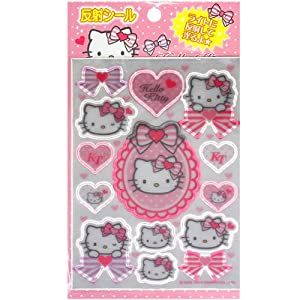 [Hello Kitty]Reflective sticker Ribbon