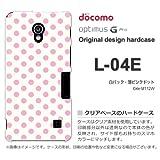 docomo Optimus G Pro L-04E ケース Optimus G Pro L-04E カバー ケース・ジャケット【白バック・薄ピンクドット/l04e-M112W】
