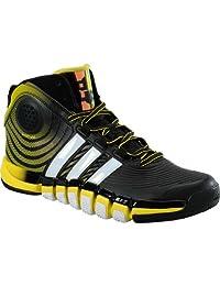 adidas Men's D-Howard 4 Mid Basketball Shoes Black/Yellow/White (8.5)