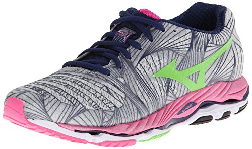 Mizuno Women's Wave Paradox Running Shoe,Micro Chip/Green Flash/Electric,8 B US
