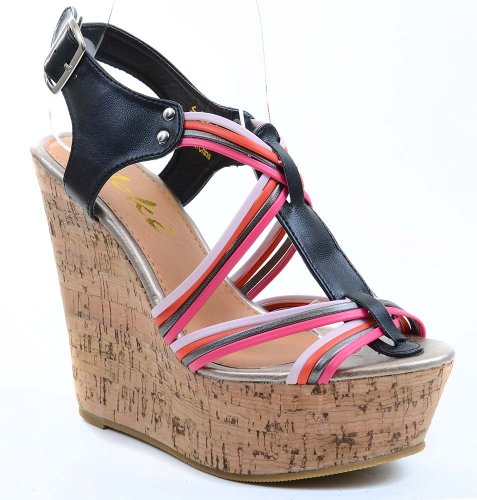Funky Wedge Sandals front-997093