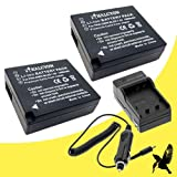 Two Halcyon 1400 mAH Lithium Ion Replacement Battery and Charger Kit for Panasonic Lumix DMC-GX7 Mirrorless Micro Four Thirds Digital Camera and Panasonic DMW-BLG10