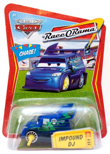 Disney Pixar Cars Impound DJ 1:55 CHASE Die-cast Vehicle