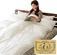 ロイヤルゴールドラベル 羽毛布団 ダブル ポーランド産ホワイトダックダウン90% 綿混生地 日本製