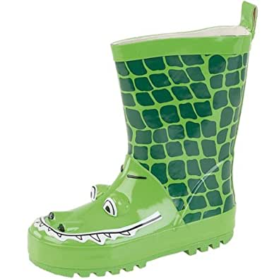 Infant Boys Green Crocodile Wellington. 10 Child UK