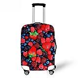 [FOR U DESIGNS]個性的な柄 伸縮性あり Spandex スーツケースカバー ラゲッジカバー luggage cover Lサイズ イチゴ柄