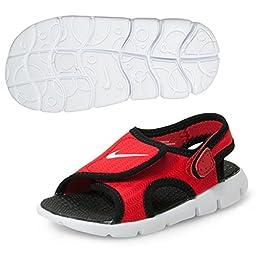 Nike Sunray Adjust 4 Boys Sandals (4 Toddler M, UNIVERSITY RED/WHITE-BLACK)