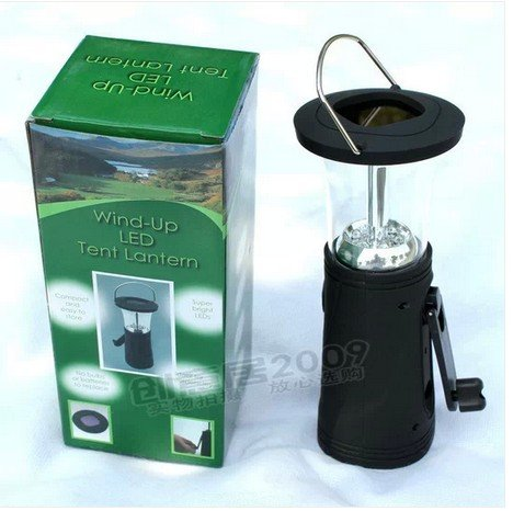 Steve Yiwu Solar Hand- Operated Rechargeable Camping Lamp/Tent Lamp/Camp Lamp