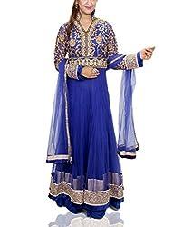 Amitas Boutique Partywear dress Colour Blue & Red