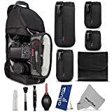Essential Protection Kit for DSLR Cameras (Canon Nikon Sony Pentax) - Includes: Digital DSLR SLR Camera Sling Backpack + Altura Photo Lens Pouch Set + Filter Pouch + Altura Photo Cleaning Kit + MagicFiber Microfiber Lens Cleaning Cloth