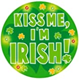 Creative Converting St. Patrick's Day Flashing Button, Kiss Me I'm Irish