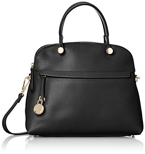 Furla Piper Medium Dome Borsa Tote, Pelle, Onyx, 34 cm