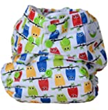 Sweet Pea Bamboo AIO One Size Diaper (Owls)