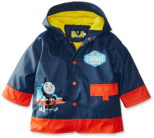 Western Chief Little Boys' Thomas Blue Engine Rain Coat, Navy, 5