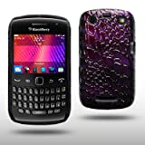 BLACKBERRY CURVE 9360 PU LEATHER BACK COVER BY CELLAPOD CASES PURPLE CROCODILE SKINby CELLAPOD