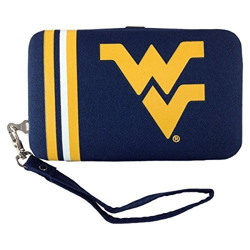 ncaa-west-virginia-mountaineers-shell-wristlet-35-x-05-x-6-inch-blue-by-littlearth
