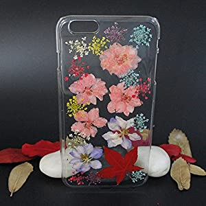 Beautiful Real Flowers Clear Slim Unique Design Phone Case for iPhone 6(17)