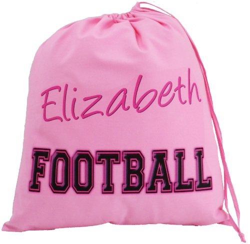 Personalised - Pink Football Bag - Large Cotton Drawstring Bag - PE Kit