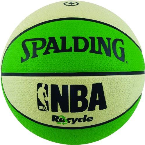 Spalding - Pallone da pallacanestro, uomo, misura 7, verde/bianco