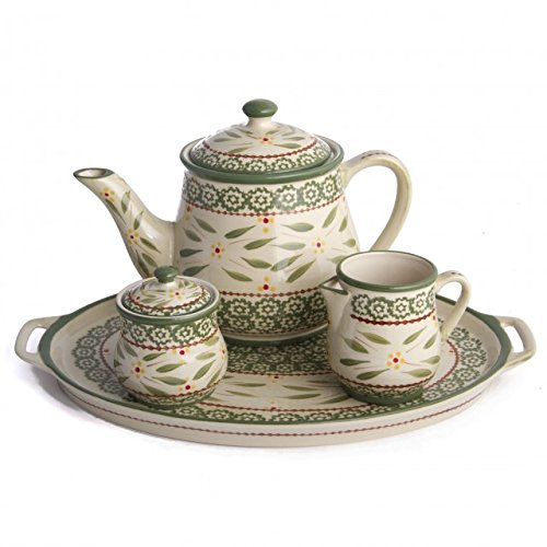 Temp-Tations Old World 4-Pc. Tea Set, Green
