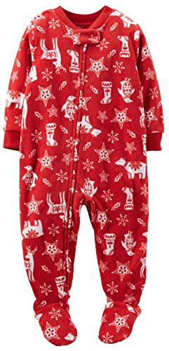 Carter'S Baby Boy/Girl Footed Fleece Christmas Sleeper Pajamas Pjs (24 Months) front-1057488