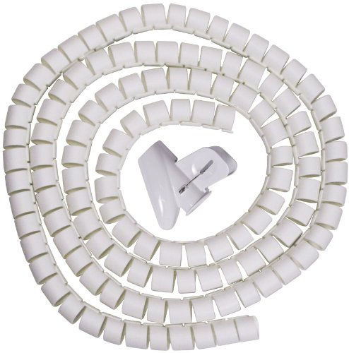 Spiral Cable Zip Wrap White 30