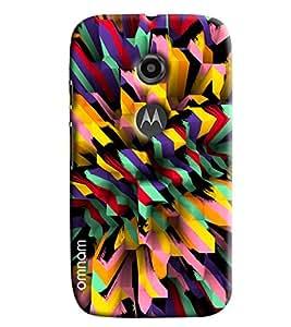 Omnam Colorful Bar Pattern Printed Designer Back Cover Case For Moto E2