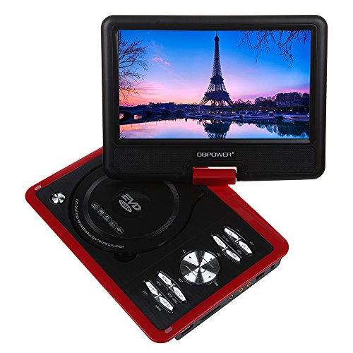 Best Deals! DBPOWER 9.5 Portable DVD Player with Swivel Screen, Supports SD Card and USB, Direct Pl...