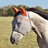 Cashel Crusader Standard Fly Mask with Orange Ears, Animal Rescue Benefit - All Sizes