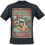 Cheapest Nintendo TS201319NTN-L - NINTENDO Super Mario Bros. Bowser with Kanji Text Mens Large T-Shirt, Black (TS201319NTN-L) on Clothing