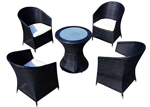 Baidani 10c00033.00001 Sitzgruppe Rondello, 5-teilig, schwarz