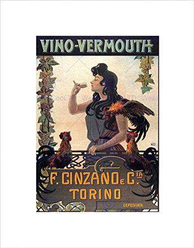 vermouth-cinzano-turin-italy-vintage-advert-retro-framed-art-print-mount-b12x597