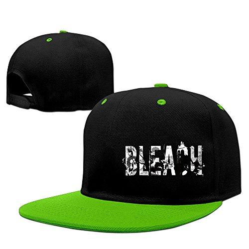 Fashion BLEACH Logo Hip Hop Snapback Baseball Cap KellyGreen