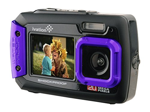 Fantastic Deal! Ivation 20MP Underwater Shockproof Digital Camera & Video Camera w/Dual Full-Col...