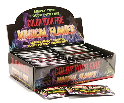 Magical Flames: Creates Vibrant, Colorful Flames for Wood Burning Fires! (2)
