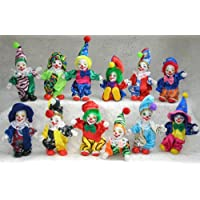 Clown Assorted Circus Figurine Collection Miniature Posable Figure Doll Toy 12 Piece Set