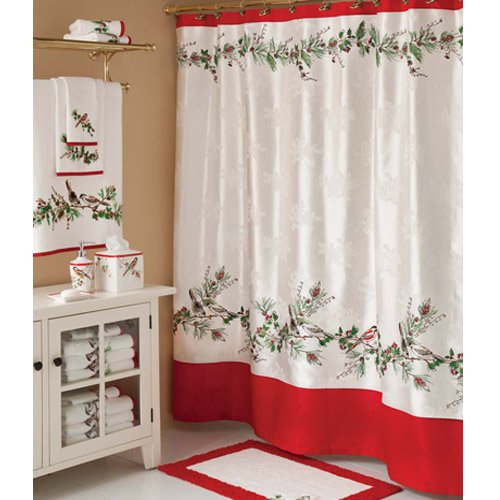 Winter Song Christmas Shower Curtain