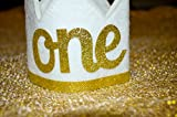 Baby Girl and Boy FIRST BIRTHDAY Sparkly Gold Crown