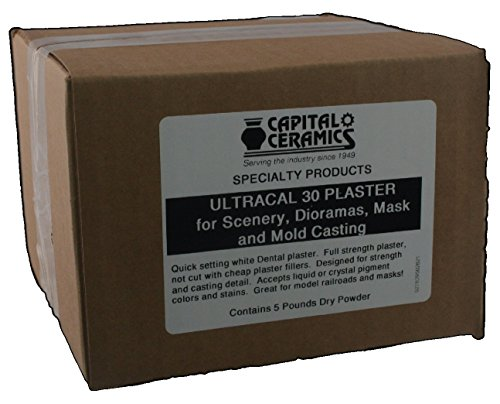 ultracal-30-plaster-for-mold-casting-scenery-dioramas-and-dentistry-5-lb-pack-resealable-bag-great-f