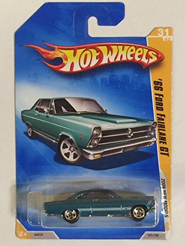 2009 Hot Wheels 031/190 '66 Ford Fairlane GT Turquoise 1:64 - 1