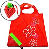 Leegoal(TM) Strawberry Folding Reusable Compact Eco Recycling Use Shopping Bag (Red Strawberry)
