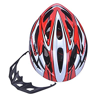EPS+PVC shell Men's Bicycle Helmet - Red, Size 58-65cm from Skyrocket