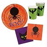 Toy - Happy Halloween Tisch-Set BOO Becher Teller Servietten 6St�ck (76934)