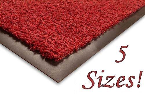 SHERPA Cotton Floor Mat - 105x180cm - Red - Outdoor and Indoor Use (e.g. Garden, Office, Front Door, Kitchen)