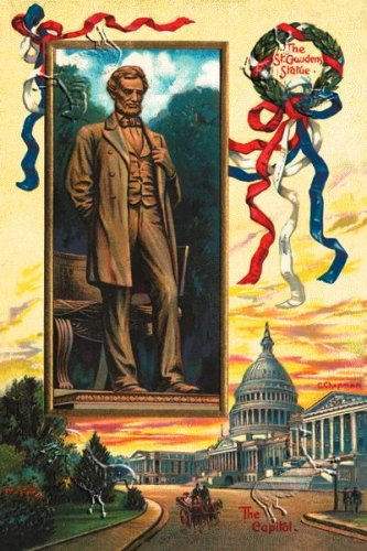 Canvas Print, The St. Gaudens Statue and the Capitol - 12 x 18