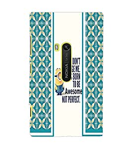 PrintDhaba Quote D-2788 Back Case Cover for NOKIA LUMIA 920 (Multi-Coloured)