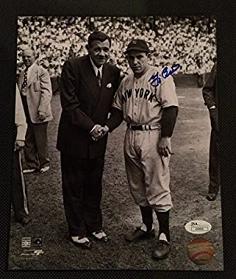 Yogi Berra w/ Babe Ruth New York Yankees Autographed 8x10 w/ JSA COA