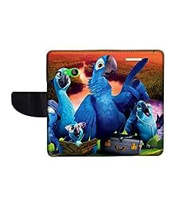 KolorEdge Printed Flip Cover For Microsoft Lumia 535 Multicolor - (50KeMlogo09690Lumia535)
