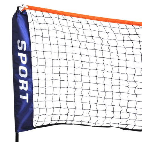 Beyondfashion 3M Mini Badminton Beach Tennis Volleyball multi Portable sports net netting With Frame & Stand Foldable