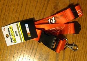 Tony Stewart #14 2-Sided Breakaway Lanyard w Detachable J-Hook Nascar Racing by aminco